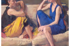 """Friends,"" oil on canvas, by Jerry Weiss, CC by 3.0 https://creativecommons.org/licenses/by-sa/3.0/deed.en, via Wikimedia Commons"