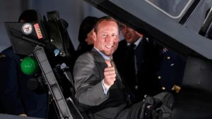 Former Canadian Justice Minister Peter MacKay. (I've used this picture of him as Defense Minister posing in the cockput of an F-35 fighter jet because it cost Canadians $47,000, so we should get our money's worth out of it.)