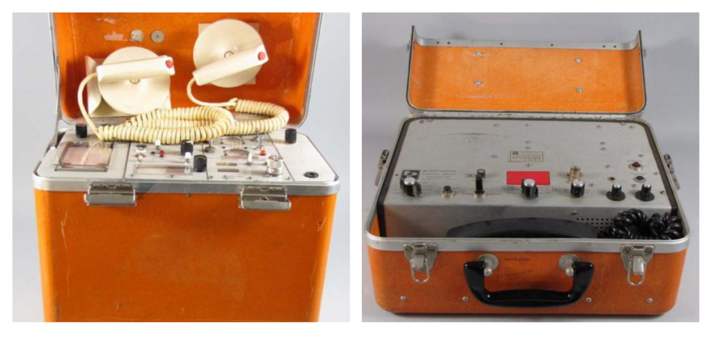 Telecare Inc. Defibrillator and Biocom Inc Biophone from the TV show EMERGENCY! (Source: Smithsonian Institution https://americanhistory.si.edu/blog/reality-plus-drama-equals-emergency?utm_source=feedburner&utm_medium=feed&utm_campaign=Feed%3A+OSayCanYouSee+%28O+Say+Can+You+See%3F-+National+Museum+of+American+History+Blog%29)