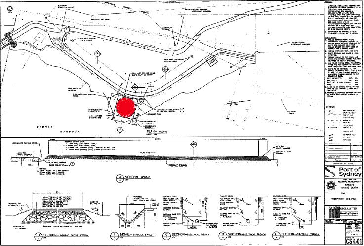 CBRM waterfront helipad plans.