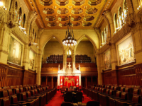 Canadian Senate Chamber (Photo by Mightydrake [CC BY 3.0 (https://creativecommons.org/licenses/by/3.0)]