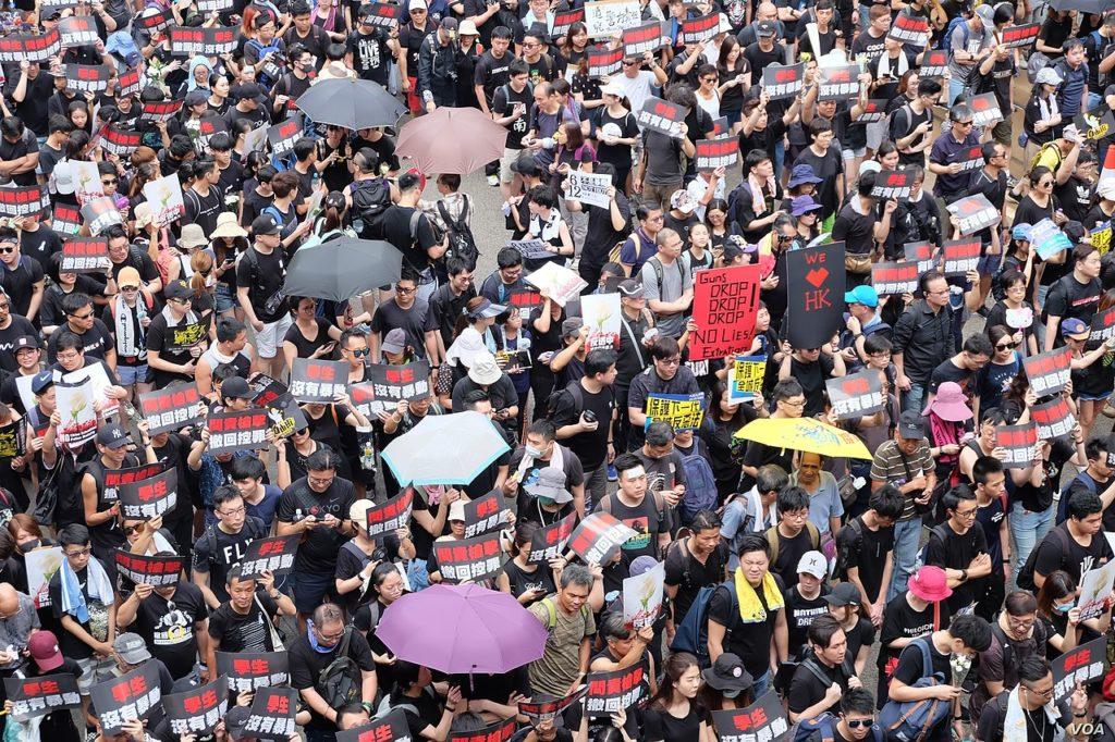 Hong Kong protests June 2019