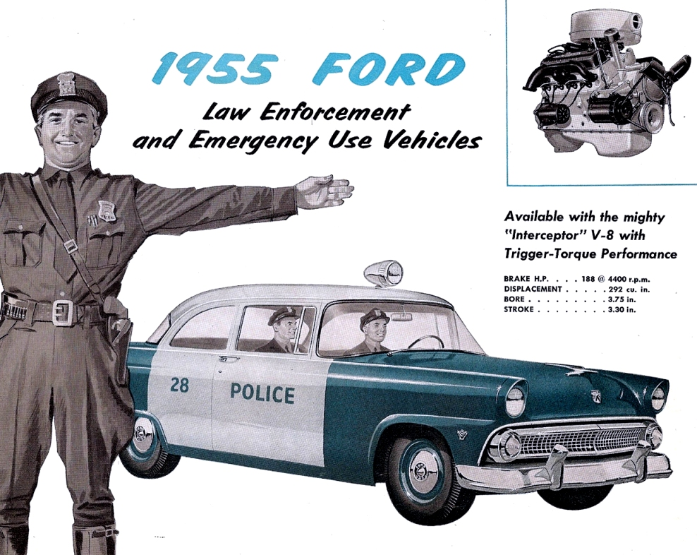 1955 Ford Police Vehicle Ad