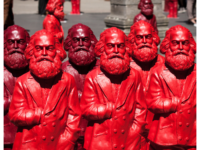 Some of the 500, one-meter tall Karl Marx statues on display in Trier, Germany, 5 May 2013. (Photo by Pierre Wolfer https://www.flickr.com/photos/dewolfert/ CC BY-ND 2.0 https://creativecommons.org/licenses/by-nd/2.0/ via Flikr