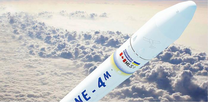 Screenshot of an MLS C4 cyclone rocket via Halifax Examiner.