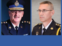 CBRPS Chief Peter McIsaac (Source: CBRPS website) and Acting Chief Robert Walsh (Photo by Tom Ayers, CBC)