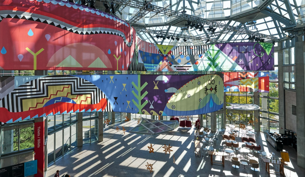 Mi'kmaq artist Jordan Bennett's installation Tepkik, National Gallery of Canada (Photo by Jordan Bennett)