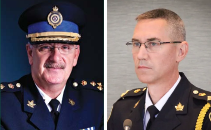 CBRPS Chief Peter McIsaac, Acting Chief Robert Walsh