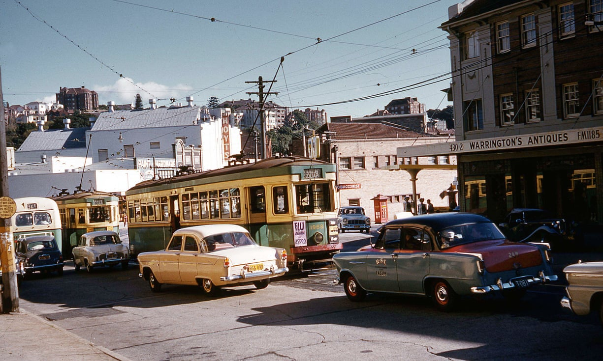 Congestion in Double Bay in 1960.