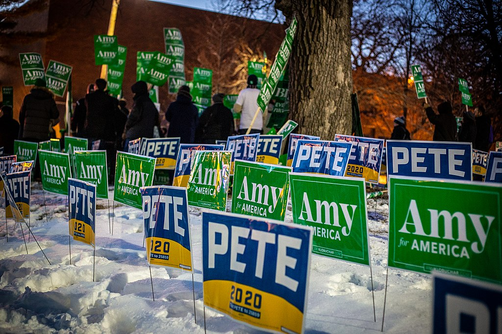 Pete and Amy signs, January 2020