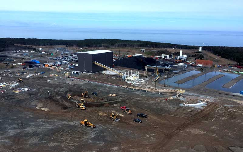 Aerial view Donkin Coal Mine