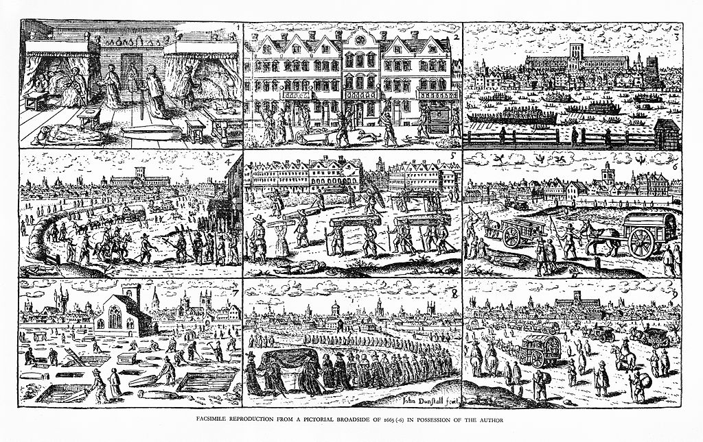 Nine Images of the Great Plague of London 1665