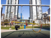 Emery Barnes Park Playground, Vancouver, during coronavirus pandemic. (Photo by GoToVan from Vancouver, Canada / CC BY SA 2.0 https://creativecommons.org/licenses/by/2.0 via Wikimedia Commons