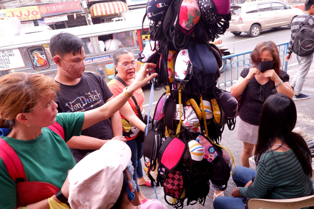 Seller of cloth face masks in the Philippines