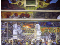 Overview of Detroit Industry, North Wall, 1932-33, fresco by Diego Rivera. Detroit Institute of Arts.  Diego Rivera