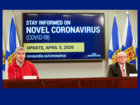 Premier Stephen McNeil and Dr. Robert Strang, COVID-19 update, 5 April 2020.