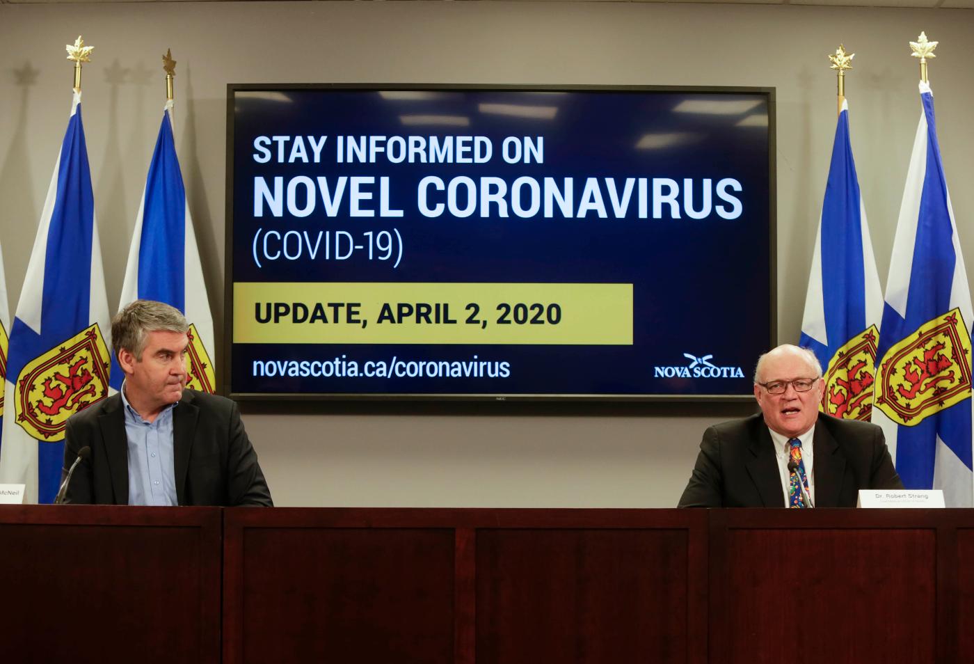 Premier Stephen McNeil and Dr. Robert Strang
