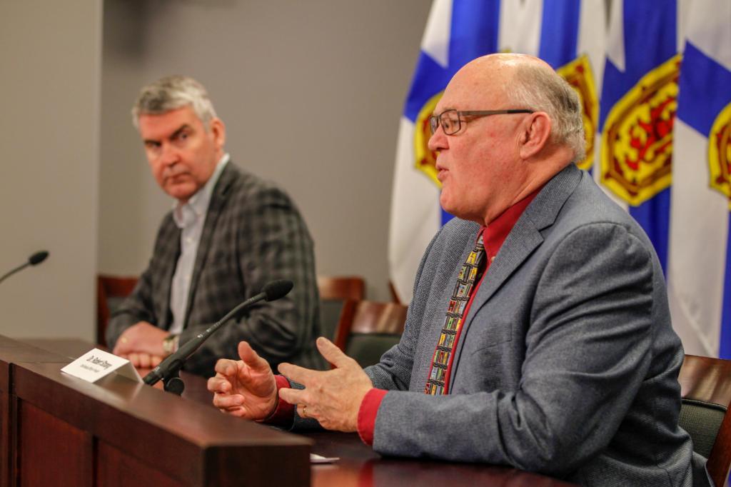 Premier Stephen McNeil and Dr. Robert Strang, 15 April 2020
