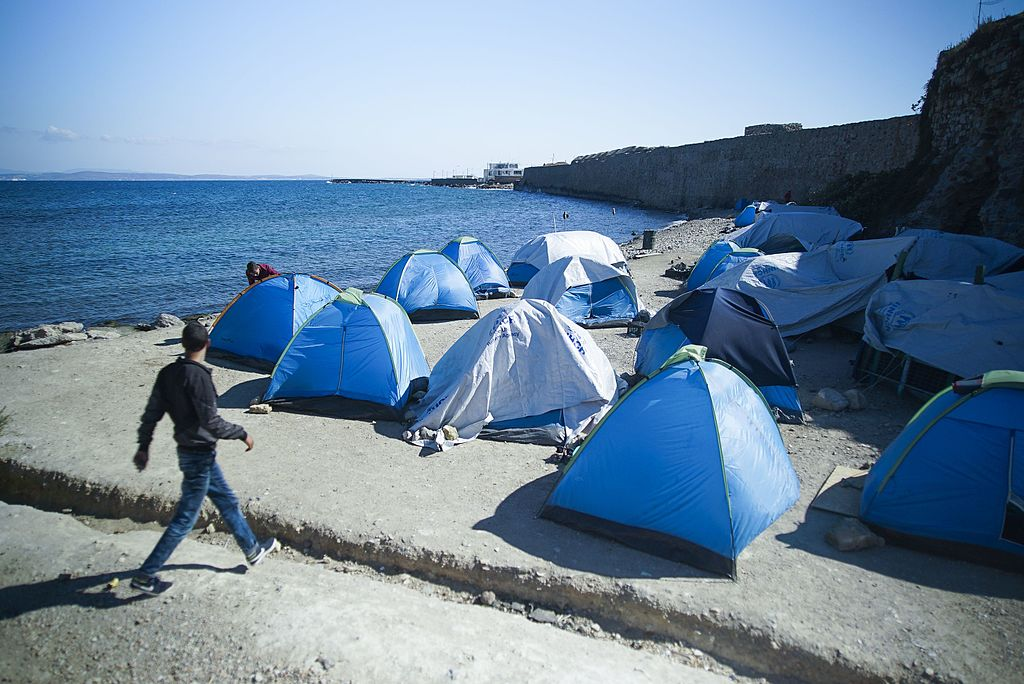 Seashore refugee camp, Chios, Greece, 2016