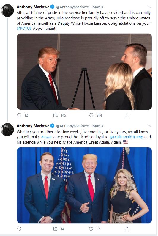 Anthony Marlowe 3 May 2020 tweet