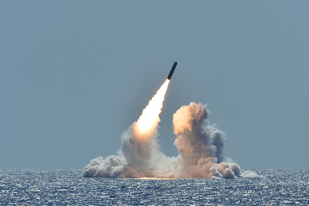 Trident II D5 nuclear missile test launch