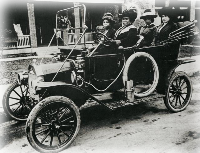 Madam C.J. Walker in an early automobile