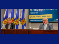 Premier Stephen McNeil and Dr. Robert Strang, NS COVID-19 Update, 6 July 2020.
