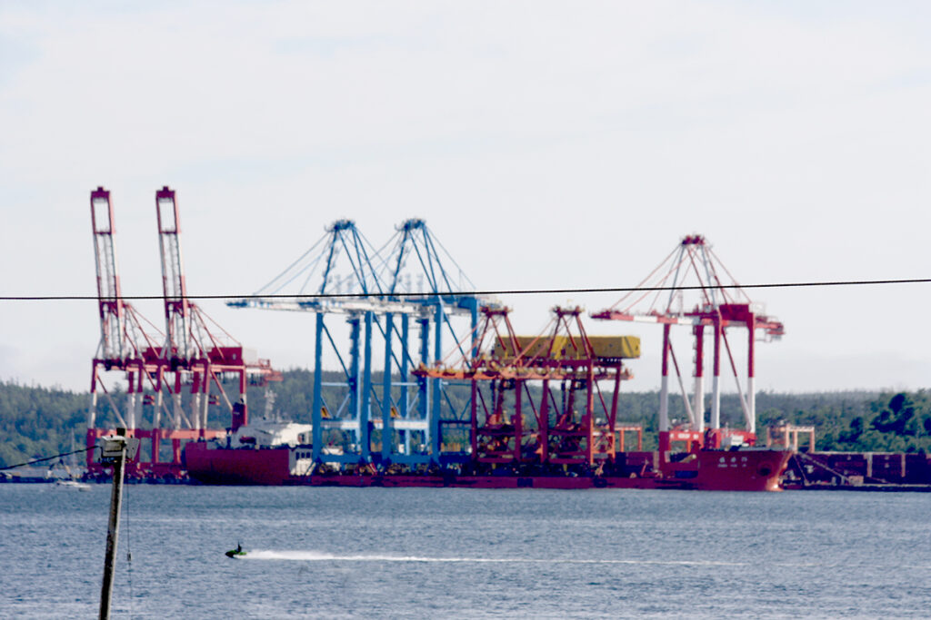 Crane delivery, Port of Halifax. (Photo by Rick Grant)