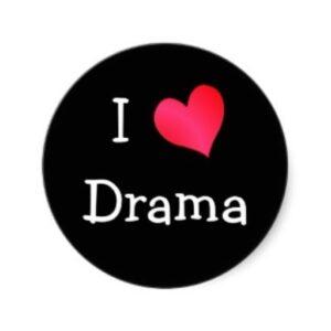 I HEART Drama lapel pin