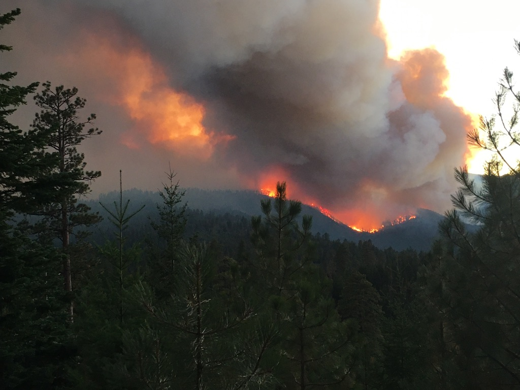 Fire in the Whitewater River Valley. Photo by Vernon Wolf.
