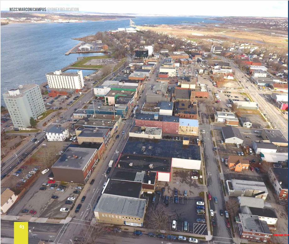 Aerial view Downtown Sydney, NS