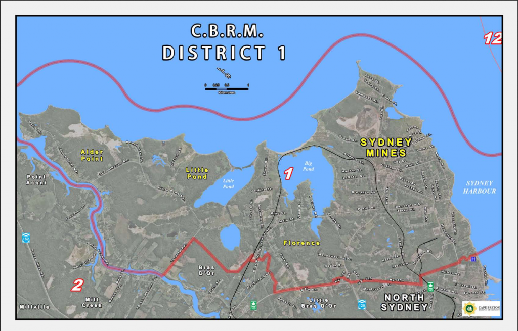 Map of CBRM District 1