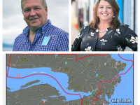 CBRM District 2 Candidates, Map. Jim Dunphy, Earlene MacMullin