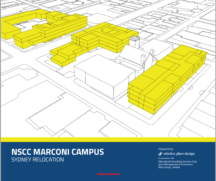 NSCC Marconi Relocation Report Cover