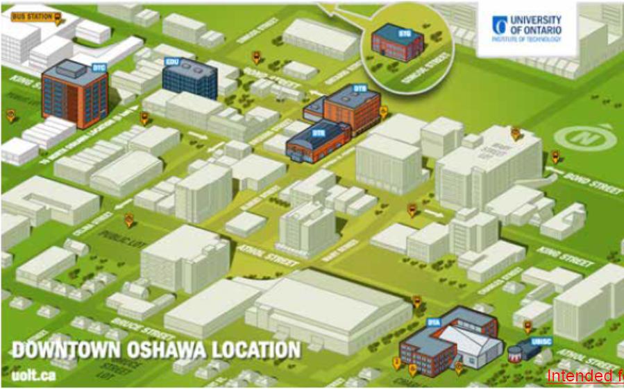 UOIT Oshua Campus map
