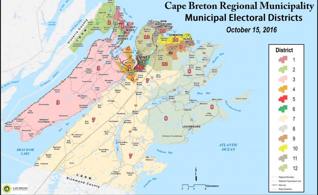 CBRM Electoral Map