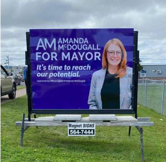 Amanda McDougall sign