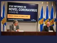 Premier Stephen McNeil and Dr. Robert Strang, 2020.10.06