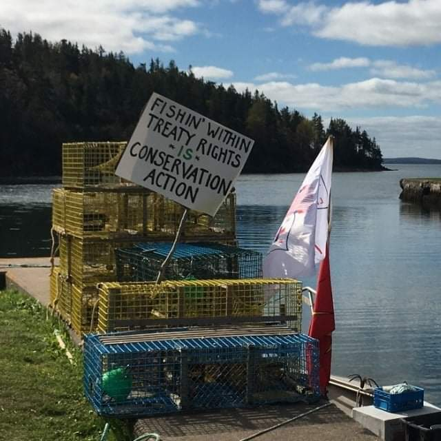 Sign in support of Indidgenous fishery