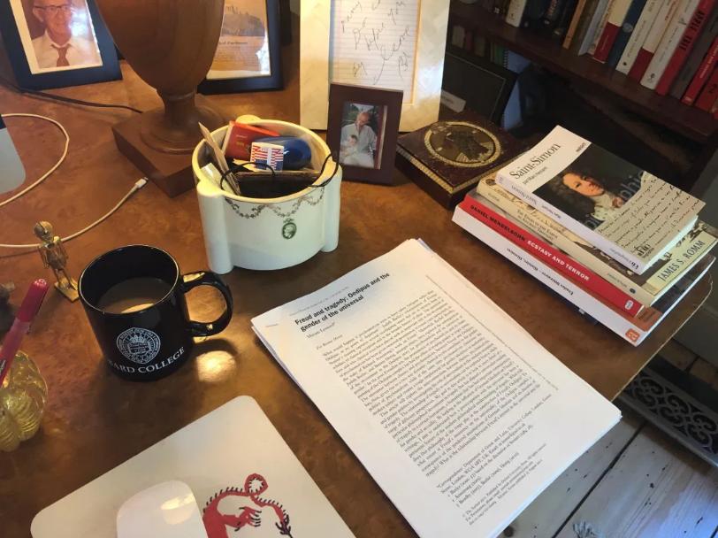 Daniel Mendelsohn's desk,
