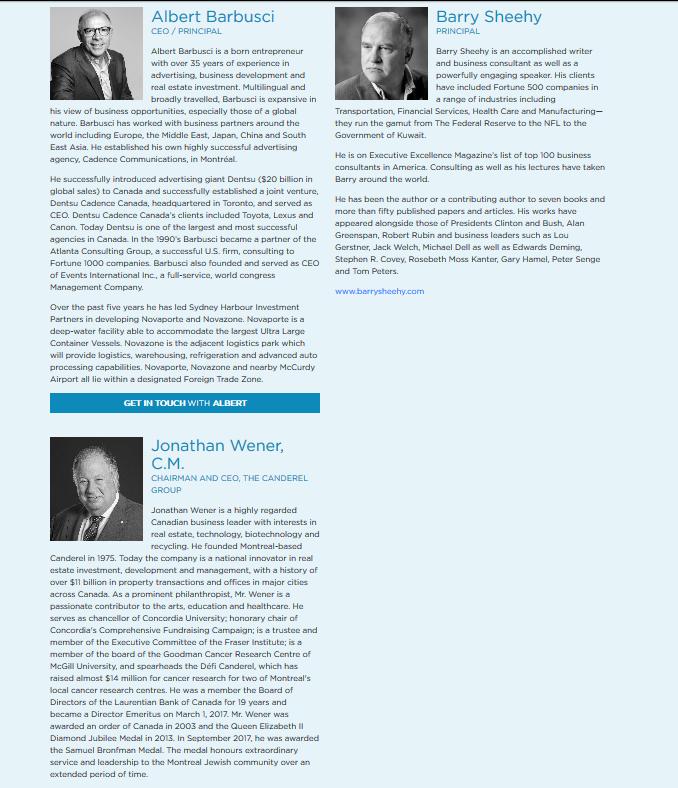 Novaporte Leadership 26 September 2019