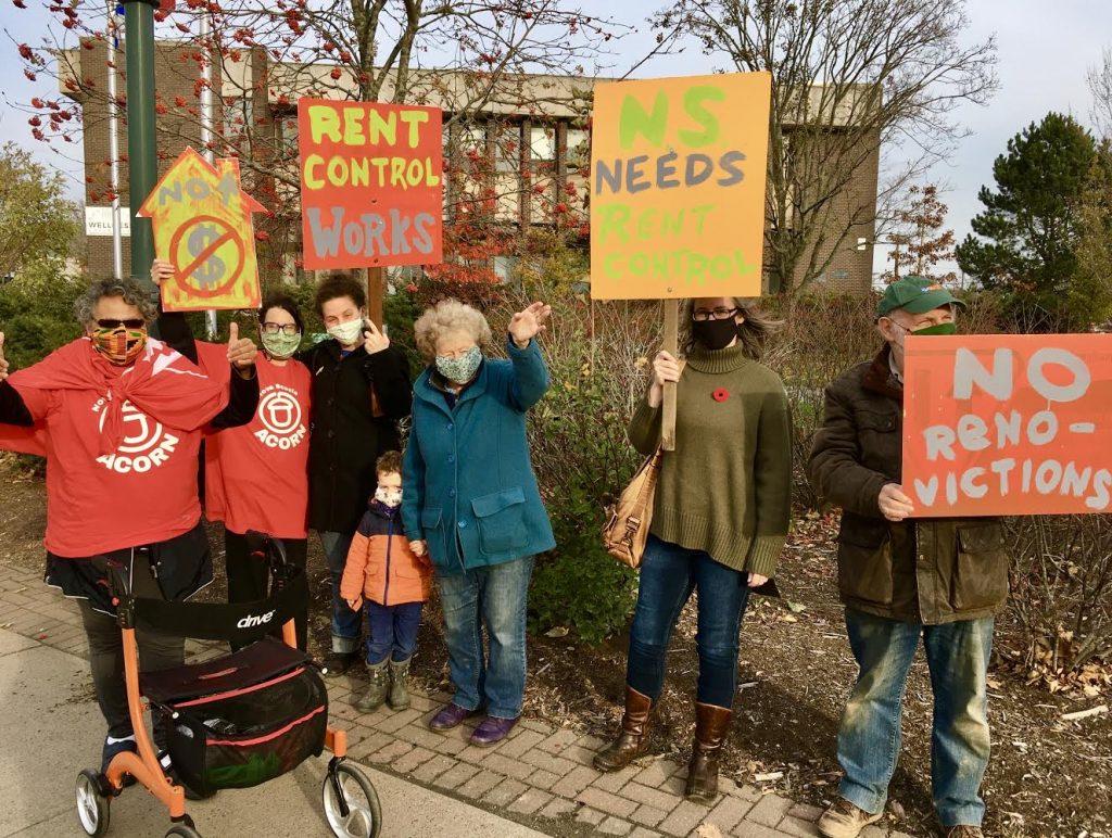 Antigonish rent control protest