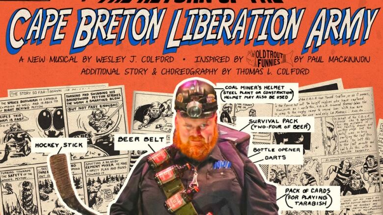 "Poster for ""Cape Breton Liberation Army,"" an original production at the Highland Arts Theatre."