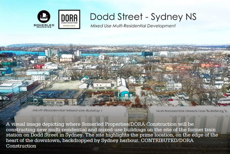 Drawing of development planned for 75 Dodd Street