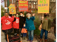 Rent control rally, Antigonish, NS, 7 November 2020 (Source: Twitter)