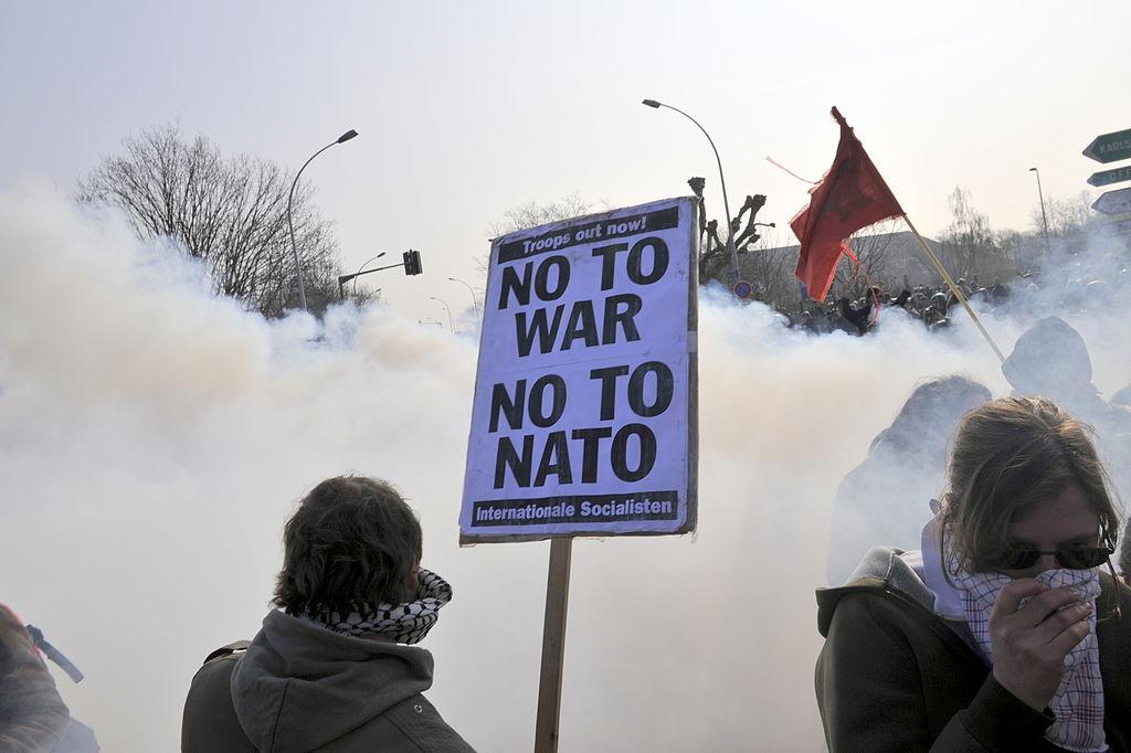 Anti-NATO protest Strasbourg, April 2009