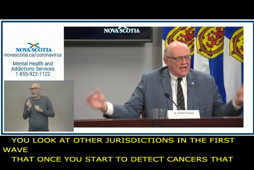 Screen shot from Nov. 20 NS COVID briefing