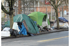 Homeless encarmpment, Northeast Portland (Photo by