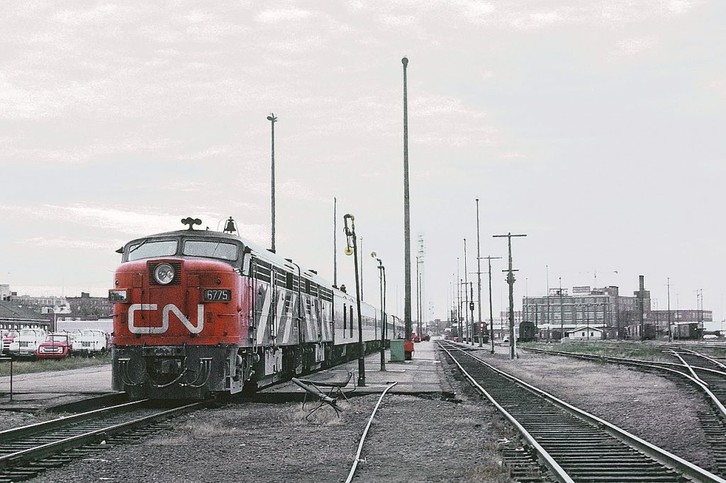 CN train in Moncton, NB, 1971