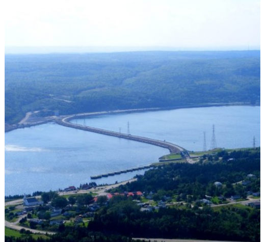 Aerial view of Canso Causeway, 2007. (Photo by Swampfoot at English Wikipedia, CC0, via Wikimedia Commons)